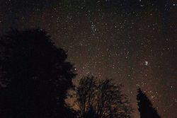 Sternenhimmel am Heidelstein in der Rhön