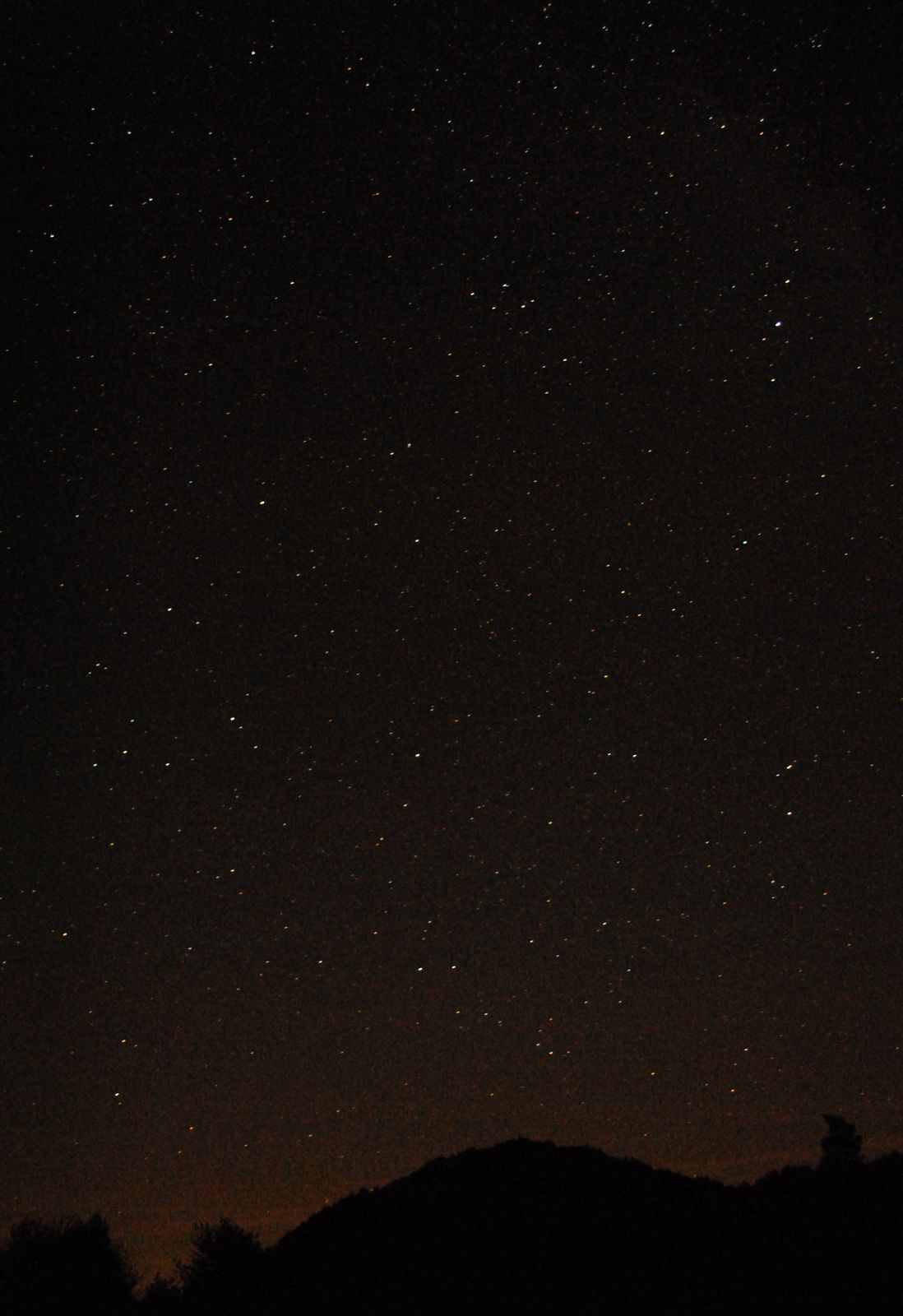 Lichtverschmutzung verursacht durch Hünfeld stört Astronomie und Deepsky Beobachtung in der Rhön bzw im Sternenpark Rhön
