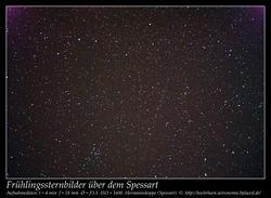 Weitwinkelaufnahme Frühlingshimmel Astronomie Spessart Star Party 2015