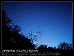 Dämmerung im Hohen Vogelsberg Aufnahmeort Schäbenhecken bei Lanzenhain Hoher Vogelsberg Deep-Sky, Astronomie und Astrofotografie im Hohen Vogelsberg