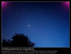 Frühlingshimmel im Vogelsberg Aufnahmeort Schäbenhecken bei Lanzenhain Hoher Vogelsberg Deep-Sky, Astronomie und Astrofotografie im Hohen Vogelsberg
