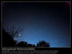 Untergehende Wintersternbilder Aufnahmeort Schäbenhecken bei Lanzenhain Hoher Vogelsberg Deep-Sky, Astronomie und Astrofotografie im Hohen Vogelsberg