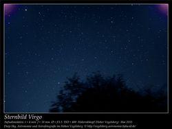 Sternbild Virgo Aufnahmeort Hoherodskopf Hoher Vogelsberg Deep-Sky, Astronomie und Astrofotografie im Hohen Vogelsberg