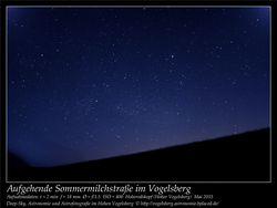 Aufgehende Sommermilchstraße im Vogelsberg Aufnahmeort Hoherodskopf Hoher Vogelsberg Deep-Sky, Astronomie und Astrofotografie im Hohen Vogelsberg